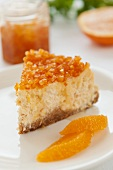 Polish cheesecake with candied orange peel