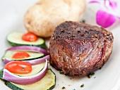 Rinderfilet mit Baked Potatoe und Gemüse