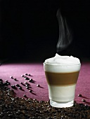 Latte macchiato (milk and espresso, Italy)