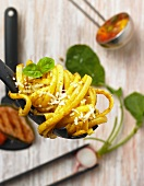 Tagliatelle with basil pesto