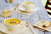 Cream of celeriac soup with ginger