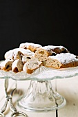 Mini wholemeal stollen with almonds