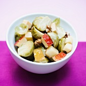 Brussels sprouts salad with apple