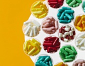Various colourful tablets