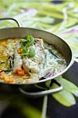 Braised monk fish