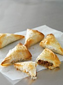 Puff pastry parcels filled with minced lamb