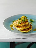 Courgette cakes with mint
