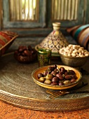 Marinated olives and pistachios (Morocco)