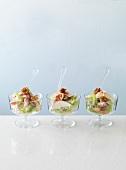 Bowls of Waldorf salad