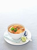 Asian noodle dish with prawns