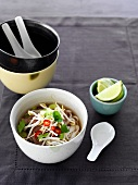 Vietnamese beef soup with noodles
