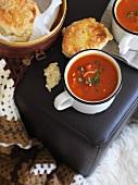 Tomato soup with smoky bacon
