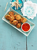 Fish cakes with chilli sauce (Thailand)