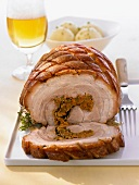 Stuffed rolled pork roast