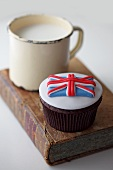 A Union Jack cupcake (Great Britain)