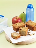 Banana and honey bread and fruit with a lunchbox