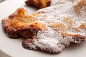 Fried Apple Pastry with Powdered Sugar