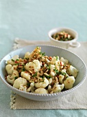 Cauliflower with chilli, garlic and lemon-butter crumbs
