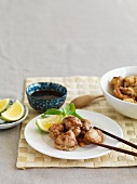 Chicken with a sweet soya and lemon sauce