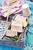 Salmon terrine for a picnic