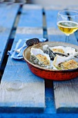Gratinated oysters (Normandy, France)