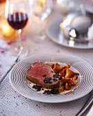 Beef with truffles and chanterelle mushrooms (Christmas)