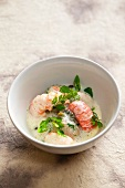 Crayfish with a chervil and lemon sauce