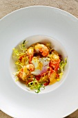 Oeuf a la creme with crayfish