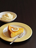 A slice of gluten-free lemon tart