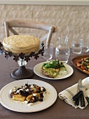 Various gluten-free dishes