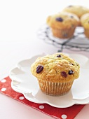 Orange and cranberry muffins with white chocolate