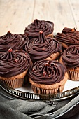 Chocolate cupcakes with caramel drops