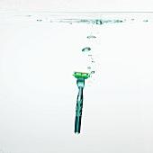 A razor under water