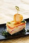 A scallop sandwich