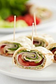 Tortilla rolls with vegetables
