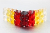 A row of gummi bears