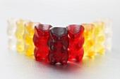 A row of gummi bears