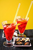 Sangria and mussels