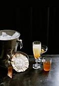 Three Christmas drinks: Lillet, Burnt Orange and Vanilla Mimosa
