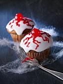 Gruselige Augen-Muffins zu Halloween