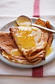 Crepe Suzette with oranges