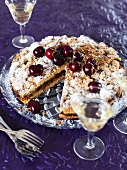 Torta di ricotta e ciliegie (ricotta cake with cherries)