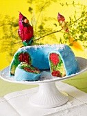 A parrot cake (colourful Bundt cake)