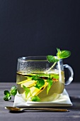 Ginger tea with mint and liquorice
