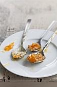 Three spoonfuls of marmalade