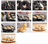 Aebleskiver (apple-filled Danish pastries)