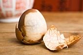 A tea-boiled egg