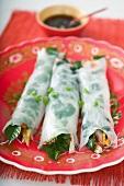 Herb spring rolls