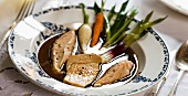 Pot au feu with chicken and goose liver (France)