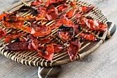 Dried tomato skins
